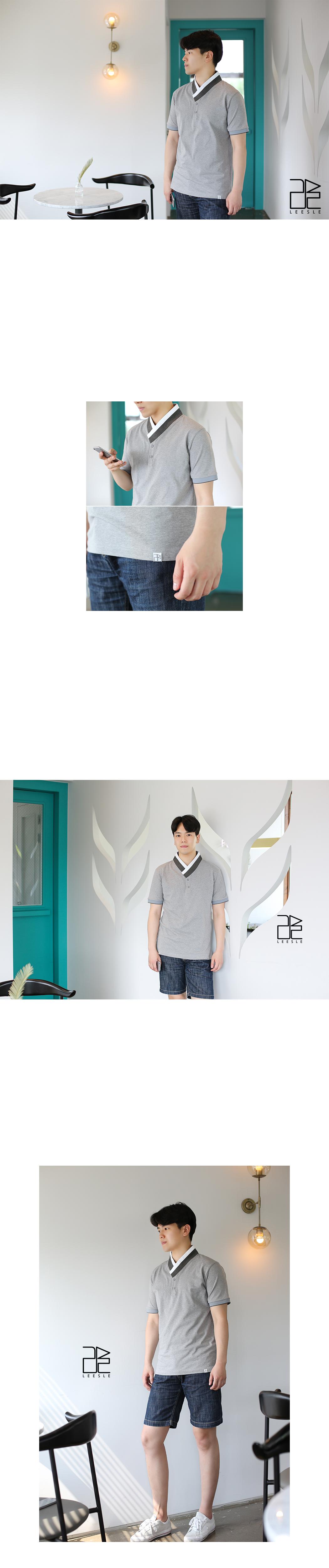 [ leesle ] PK Men\'s HANBOK T-shirts[Melangrey]
