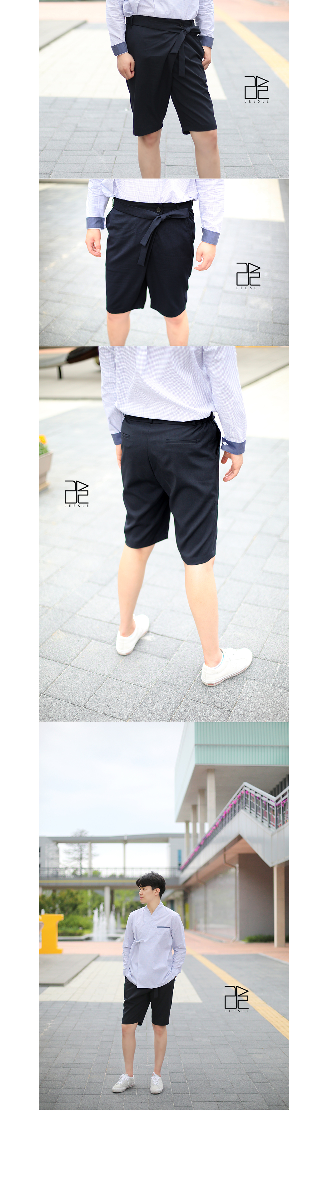 [ leesle ] SAPOK Half Pants[Dark Navy]