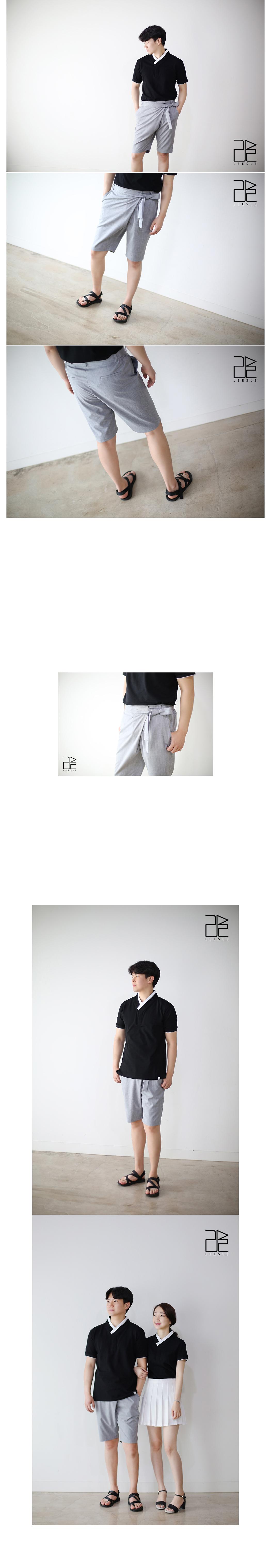 [ leesle ] SAPOK Half Pants[MELANGREY]
